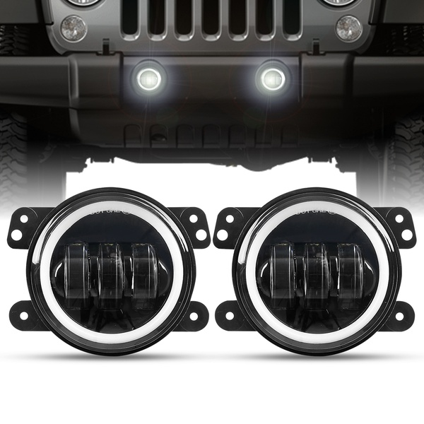 White Angel Eye Fog Lights