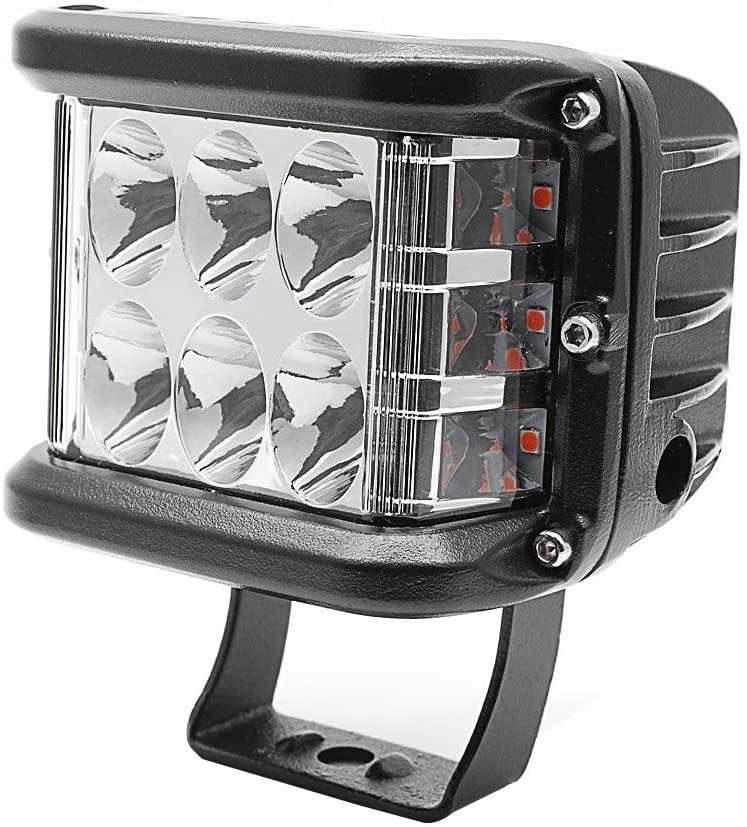 Led Light Bar / Led Spot Light 45 Watt CREE Amber Side Cube LED Light Bar Set Of 2