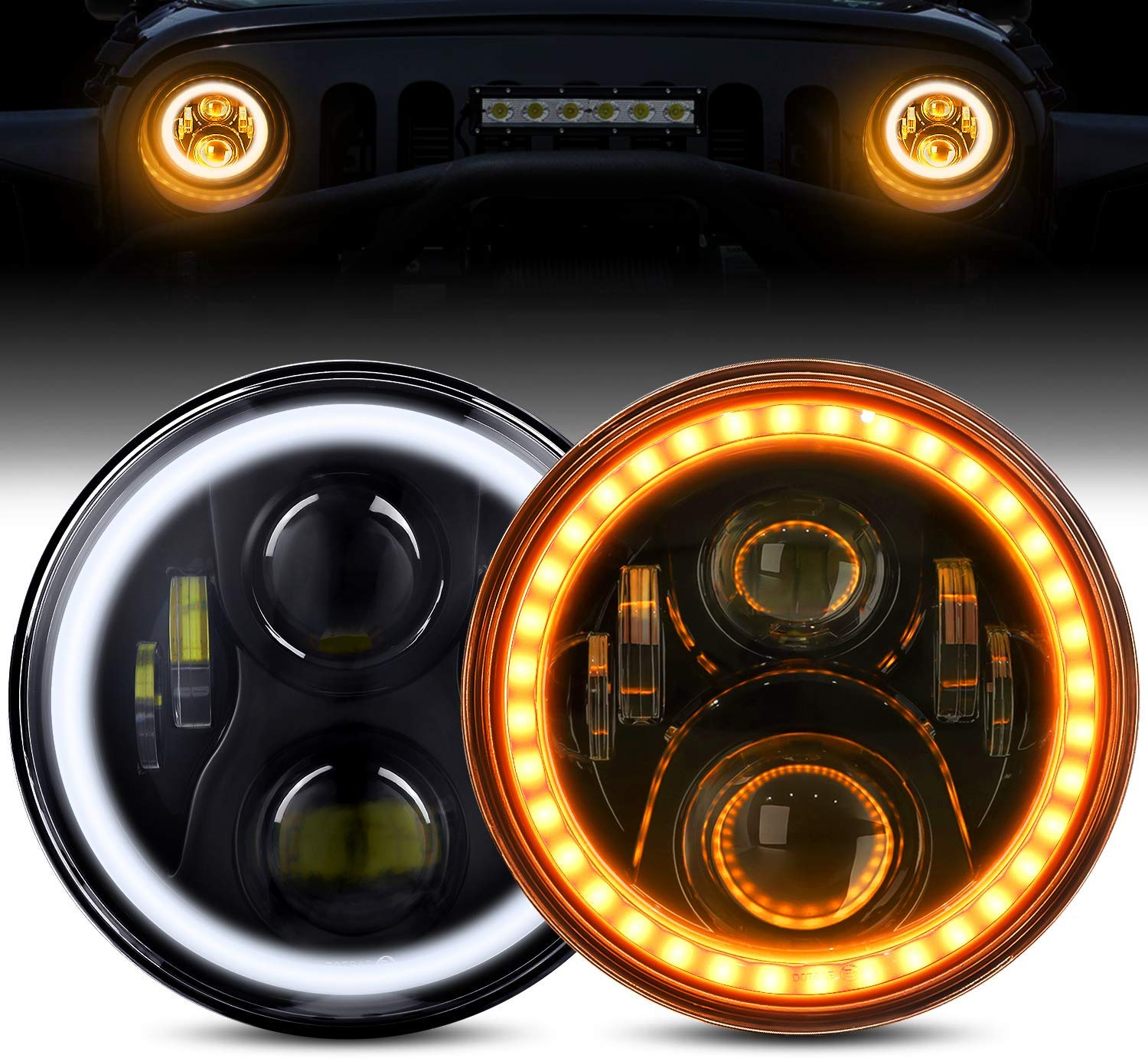 Full Halo 60 Watt LED Headlights JEEP