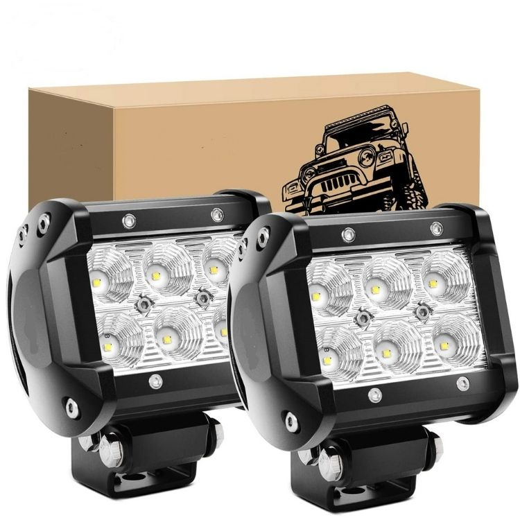 18 Watt LED Light Bar – Set Of Two Work Lights
