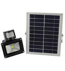 New 10 Watt Solar Powered LED Flood Light With PIR Motion Sensor Garden Security Path Wall Lamp Outdoor Led Spot Lighting