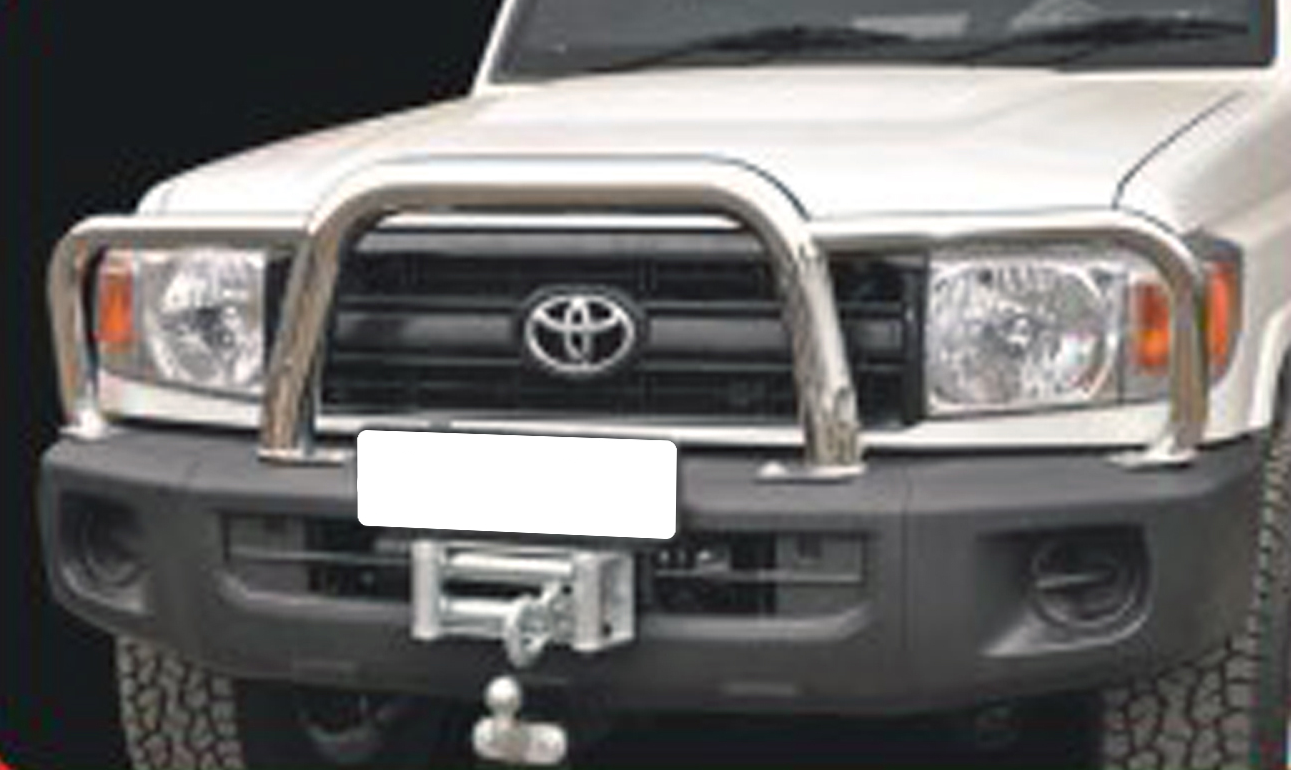 Toyota Land Cruiser 70 Series Grill Guard Stainless Steel