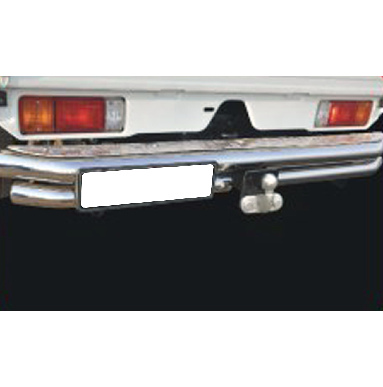 Toyota Land Cruiser 70 Series Rear Step With Towbar Stainless Steel