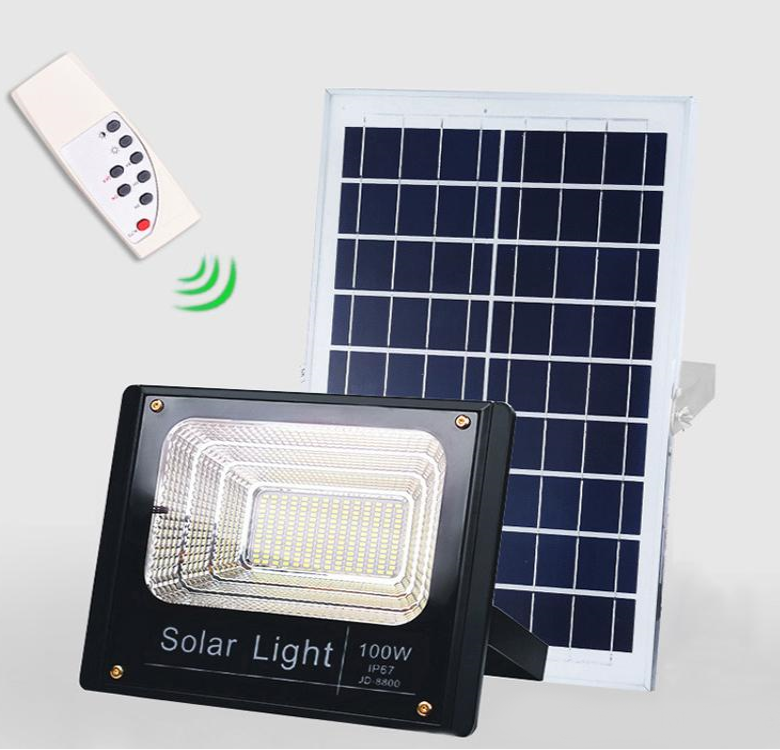 100 Watt Solar Flood Light Efficient Express