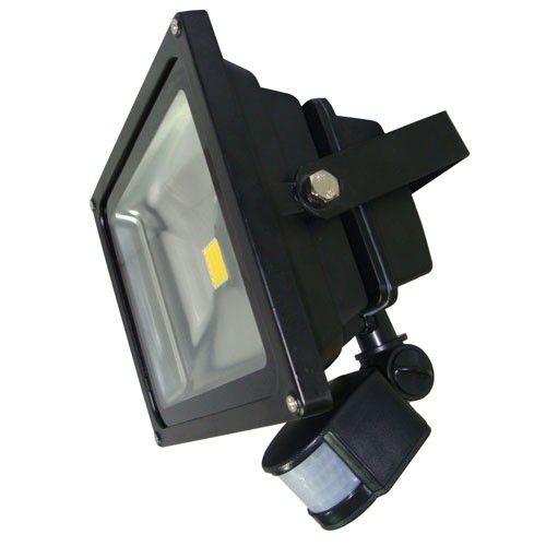 50W LED  Flood Light With Motion Sensor – Black / Grey
