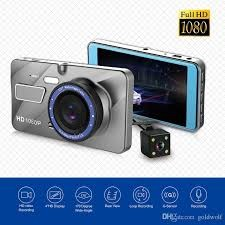 Full HD 1080P Dual Lens Vehicle Black Box Car DVR 4 Inch 170 Degree View Wide Angle Loop Recording Motion Detection