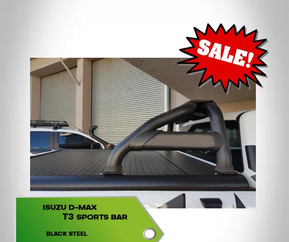Isuzu D-Max T3 Sports Bar Black 2012+