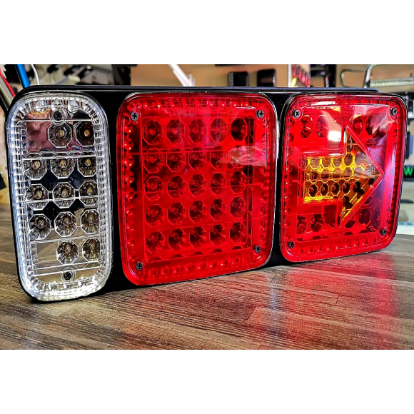 Trailer/Truck Rear Reverse & Brake LED Lights With Arrow Indicator