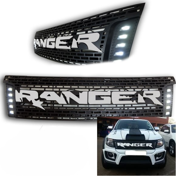Ford Ranger Middle Grill Raptor Style With LED On Side