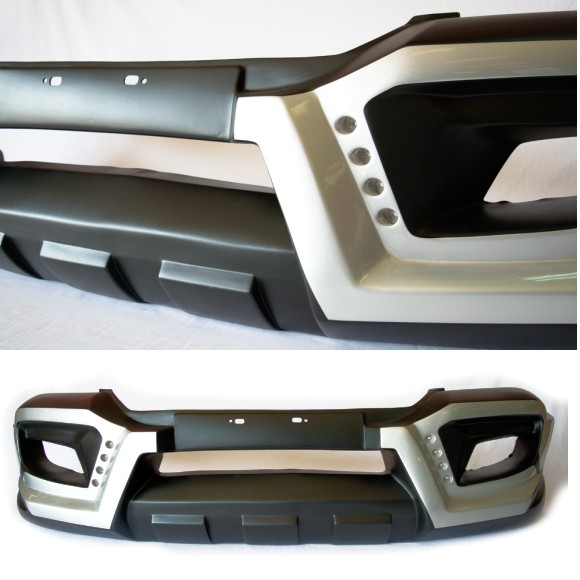 Zenith Ford Ranger Facelift/Everest Front Bumper With LED Unpainted