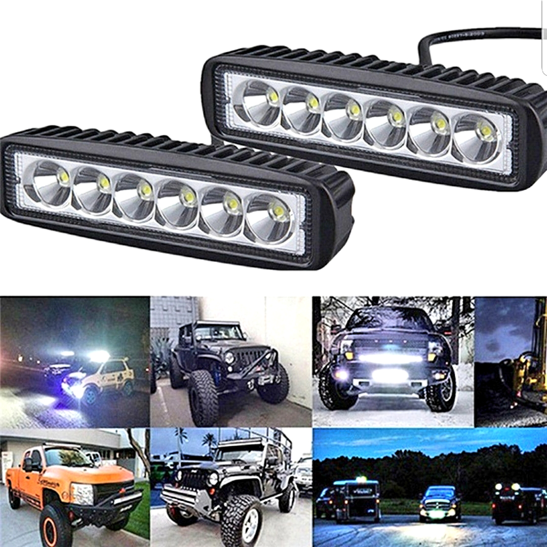 2Pce 18 Watt Work Light Driving Lamp For Off Road Vehicle SUV Car And Trucks