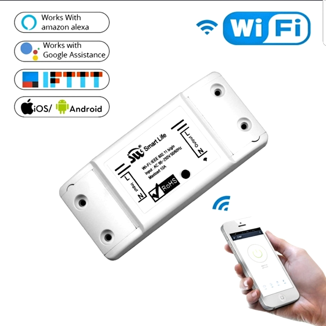 Sonoff Wifi Smart Light Switch Universal Breaker Timer Wireless Remote Control Works With Alexa Google Home Smart Home Module