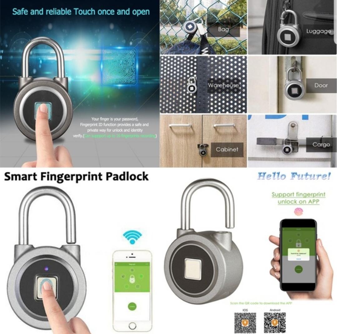 Creative Anytek P3/P2 Smart Fingerprint Padlock Waterproof Keyless Anti Theft