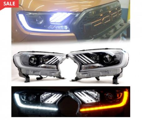 Ranger T7 (16-On) Mustang Style DRL LED Projector Headlight With Indicator Function