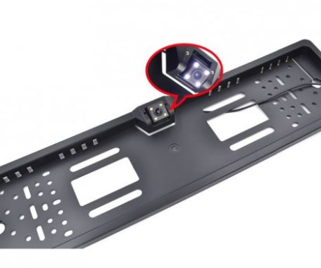 UNIVERSAL NUMBER PLATE HOLDER WITH BUILT-IN REARVIEW CAMERA
