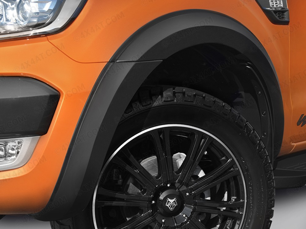 Ford Ranger 2016 Onwards 55mm ( 3inch ) Wheel Arch Kit For Double Cab Black