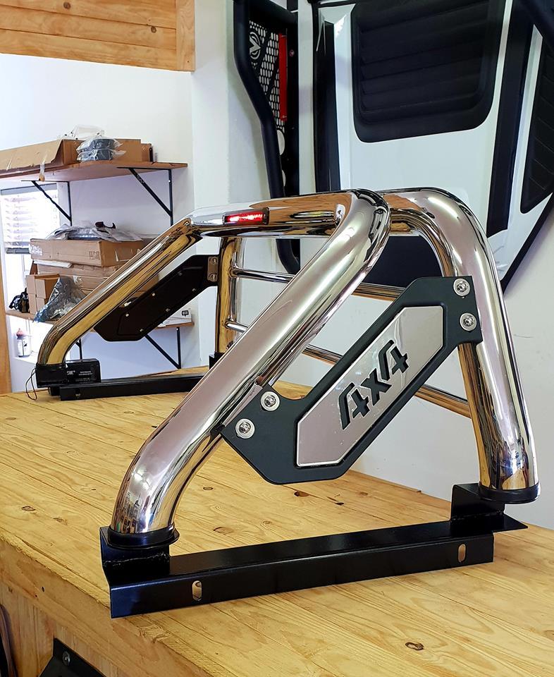 Volkswagen Amarok Sports Bar Stainless Steel With Brake Light