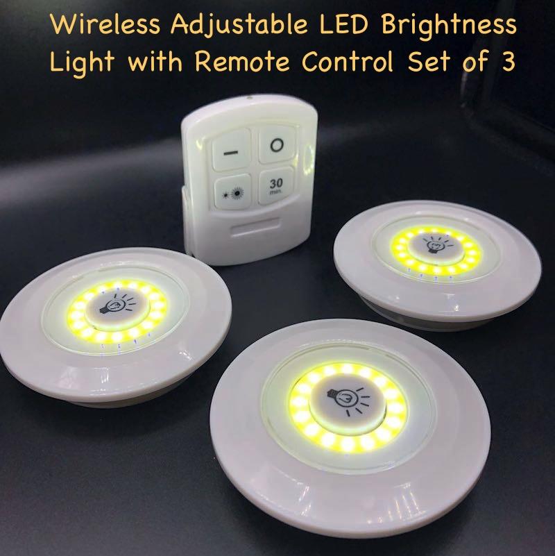 LED/COB Light 3 Piece Set With Remote Control