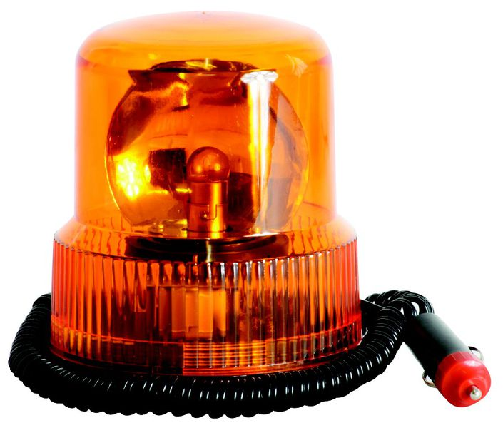 Revolving Magnetic Amber Lamp – 12V