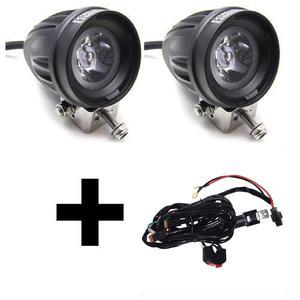 Premium Motorbike 2 X Spot & Relay Wiring Harness Combo