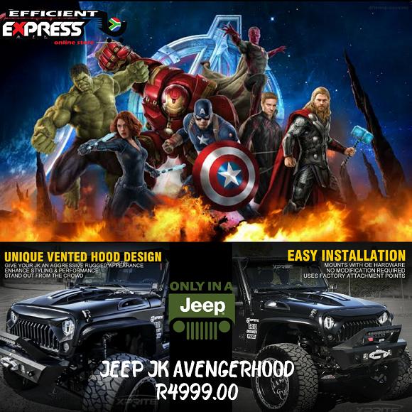 Jeep Wrangler Avenger Hood Bonnet