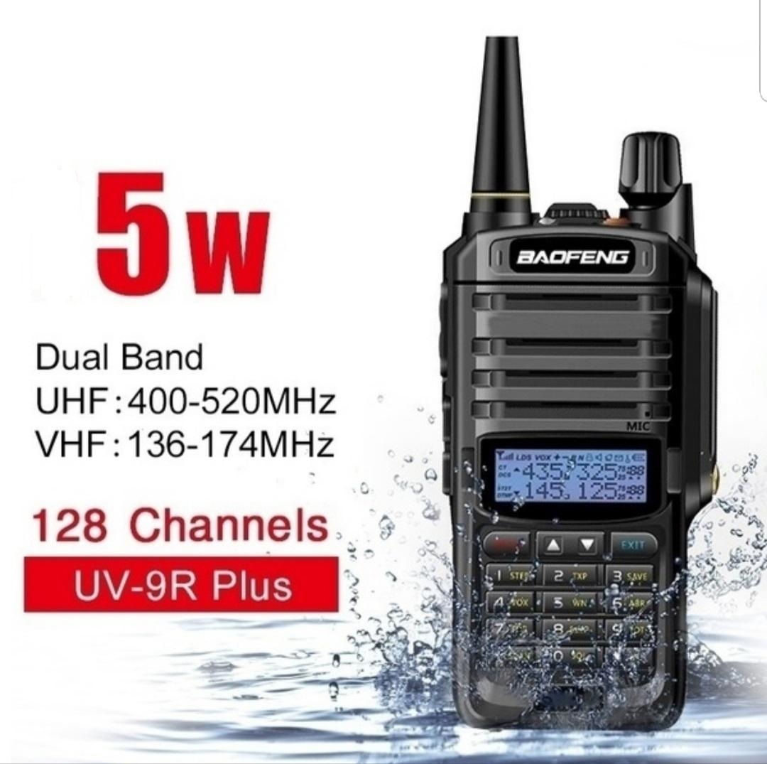 New Upgrade Baofeng UV-9R Plus Walkie Talkie 5W 8000mAh VHF UHF Duel Band Handheld Two Way Radio Waterproof FM Portable Digital Transceiver