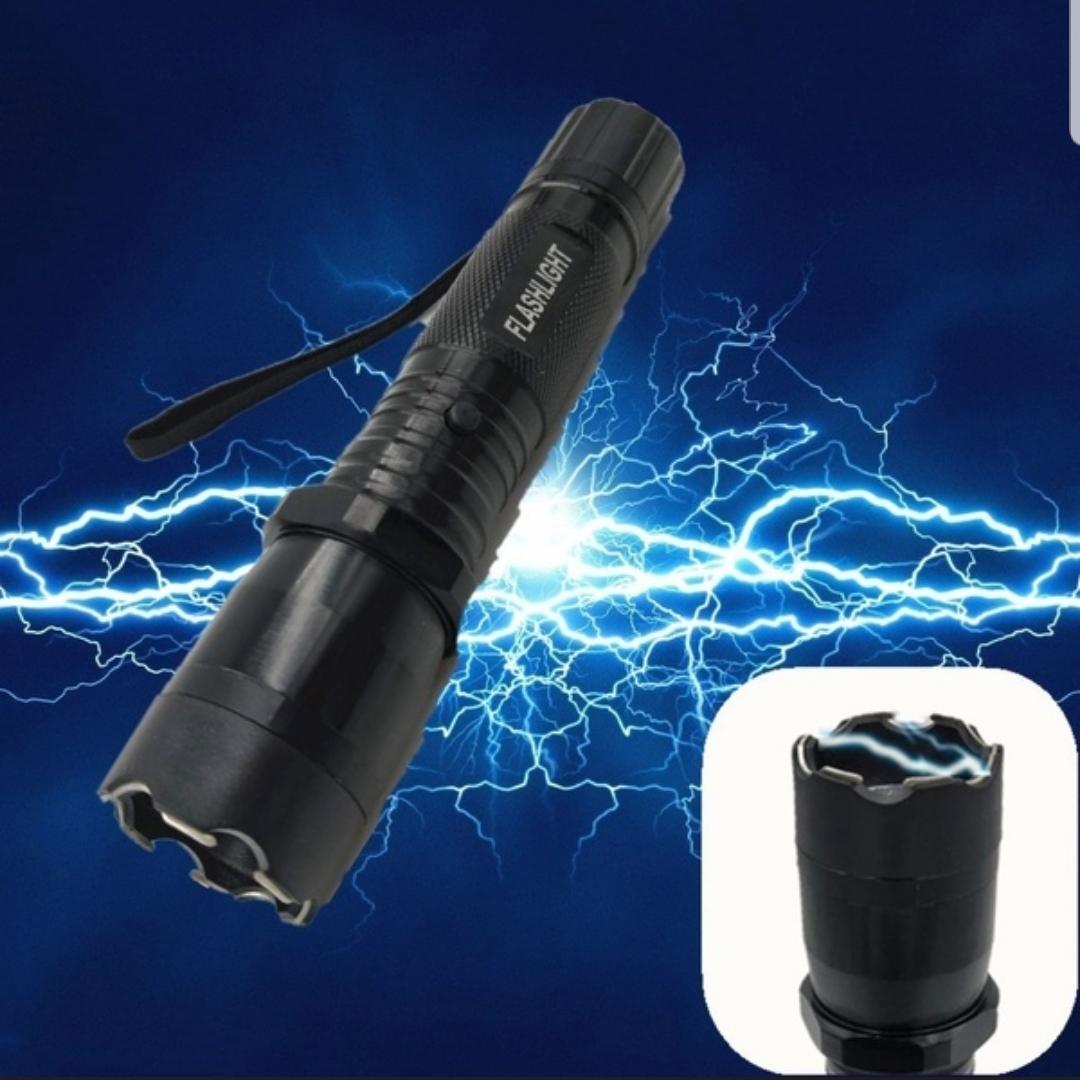 Led Flashlight With Taser