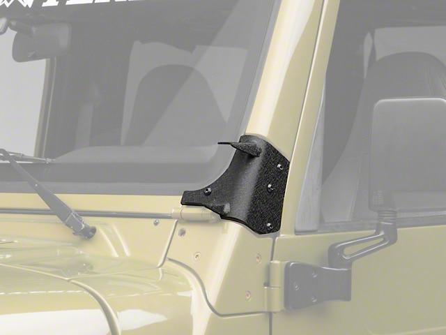 Bottom A Pillar Spot Light Brackets Steel Jeep Wrangler