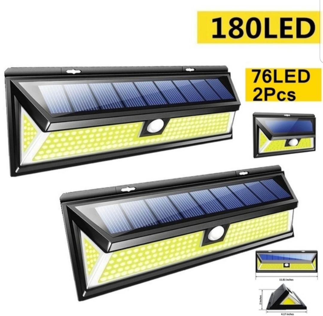2 X PCS 76 LED Light Sources COB LED Solar Light COMBO