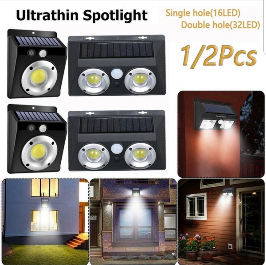 4 X Outdoor Waterproof Solar Charging Wall Lamp High Power COB COMBO Special
