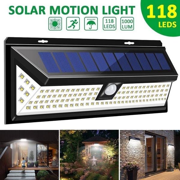 118LED Wall Solar Light Outdoor 1 Piece