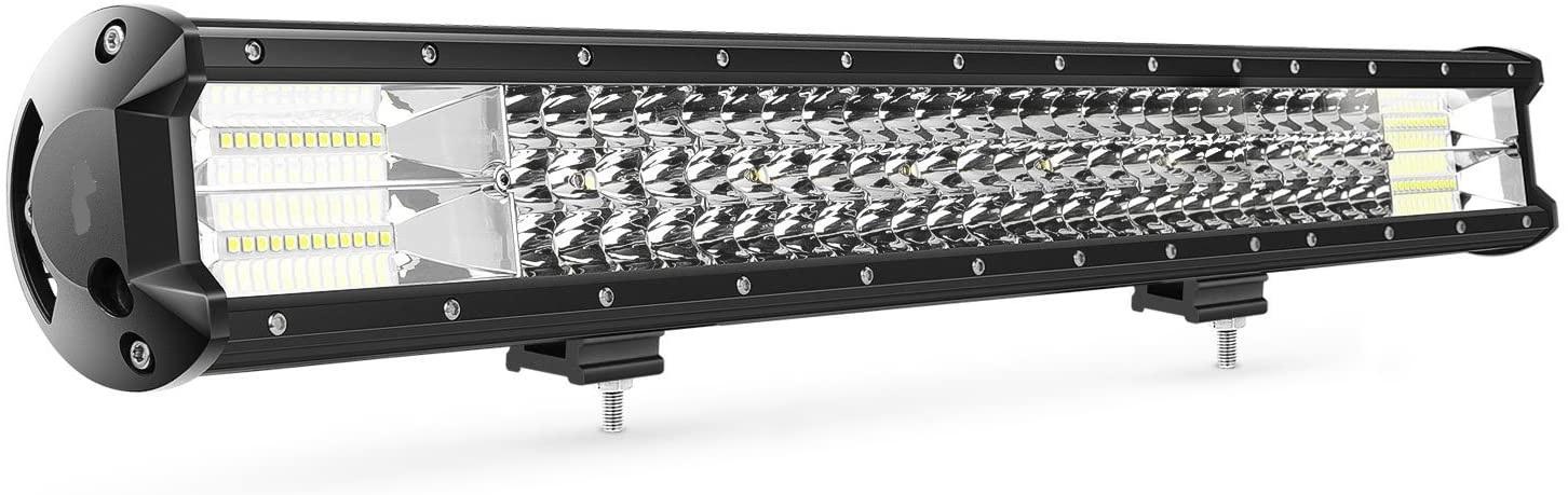 360 Watt 26 Inch LED Tri Row Light Bar Flood Spot Combo Offroad 7d Lamp Car Truck 4×4 Wire