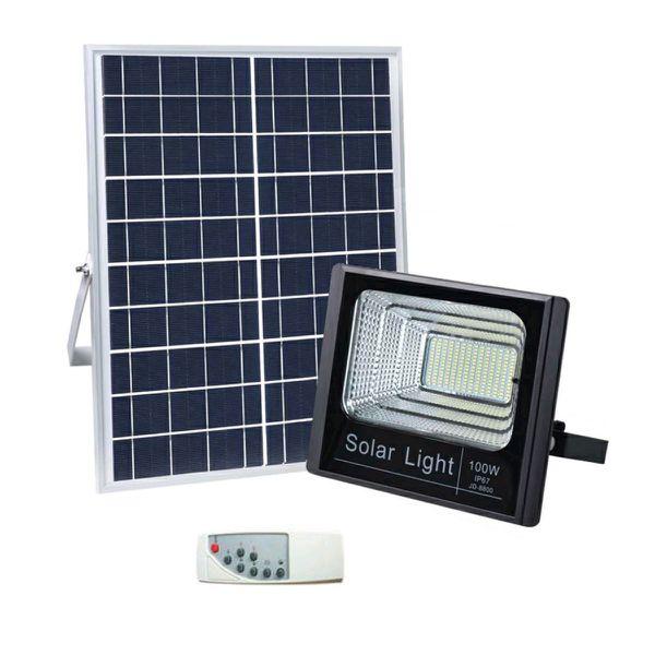 100W SMD Solar LED Flood Light – Black