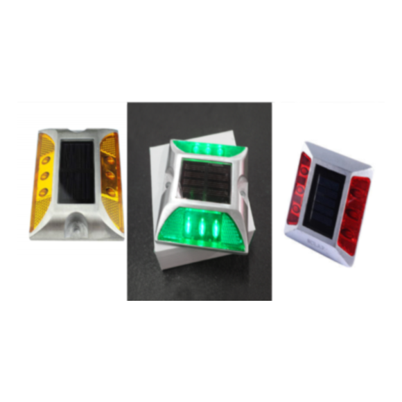 Casting Aluminum Road Stud Light Outdoor Solar Powered Lamp For Pathway Road – AMBER / RED / GREEN / WHITE