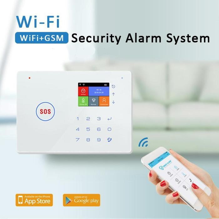 GSM WiFi Alarm System With 2.4 Inch TFT Screen Display (ES-G66W)