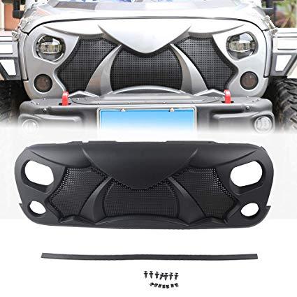 MAIKER Front Cobra Grille Grid Grill For Jeep Wrangler JK Matte Black – NS