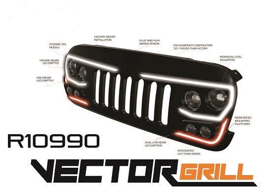 ORACLE Lighting VECTOR™ Series Full LED Grill- Jeep Wrangler JK
