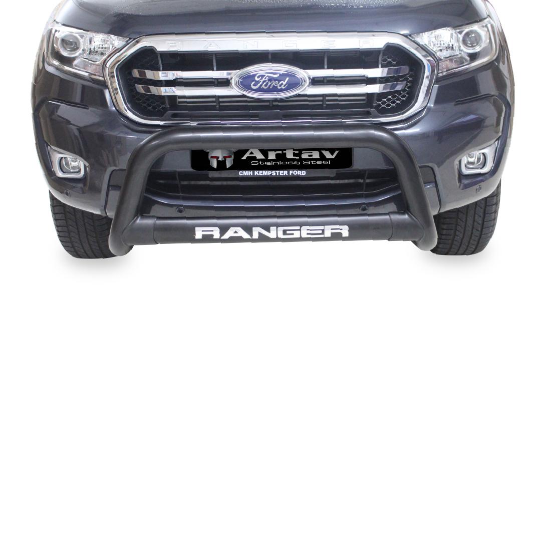 Ford Ranger T6 Nudge Bar Black (2012-2015) BS-150020 – Plus FREE LED Spot Lights
