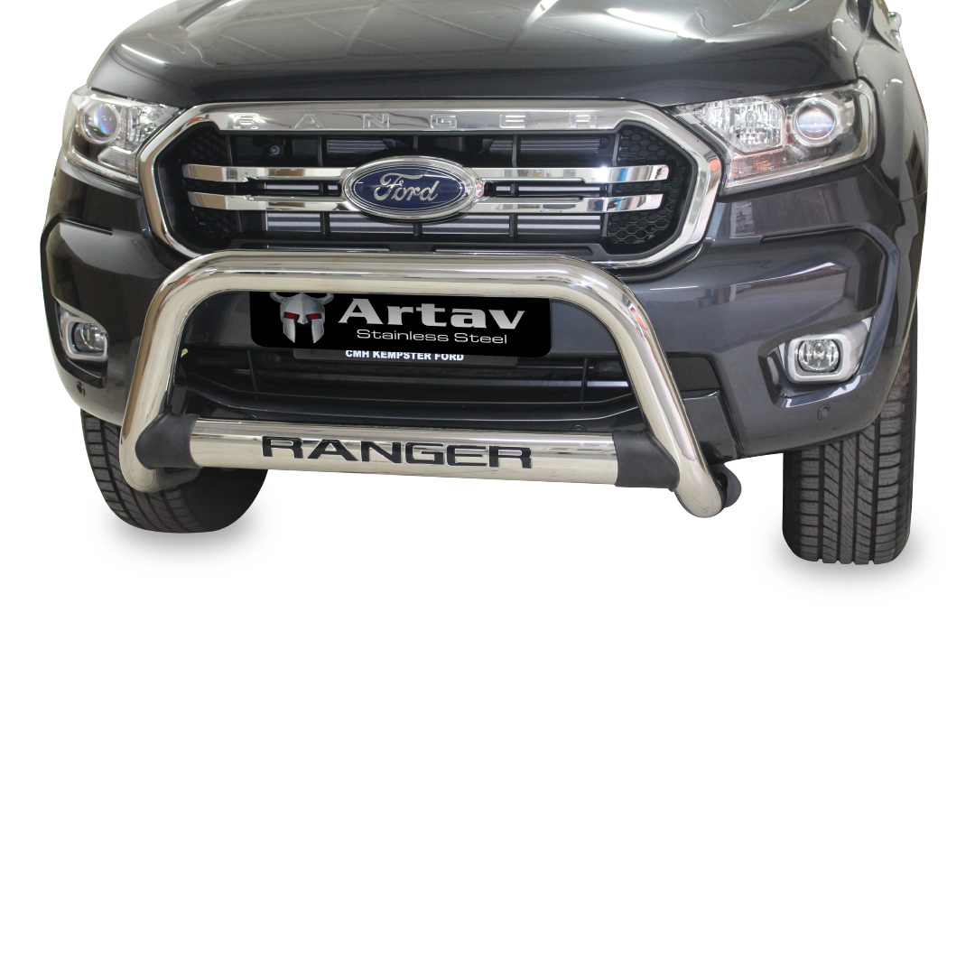 Ford Ranger T6 Nudge Bar Stainless 2015-2015