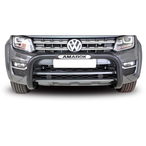 Vokswagen Amarok – 2010+ – VW Amarok Facelift PDC Nudge Bar – Black- Oval Range
