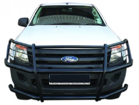 Full Face Wrap Around Headlight 38mm & Valance Protection 60mm – Powder Coated (FFBPC FORD T7)