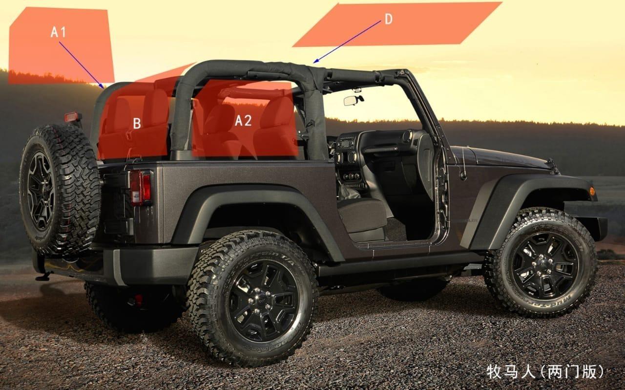 Jeep Wrangler 3 Piece Rear Netting 2 Door