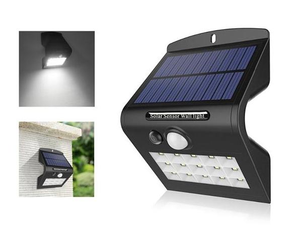 AL-SL18 1W Solar 15 LED PIR Motion Sensor Security Wall Light Waterproof For Outdoor Garden