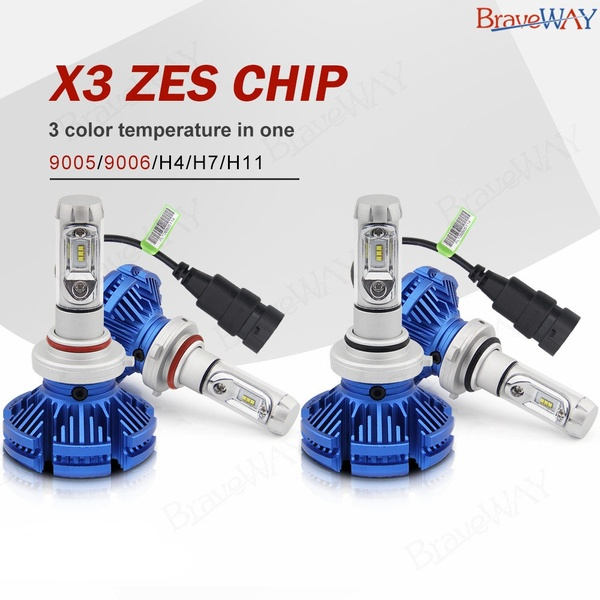 H4; H7; H11 And 9006 LED Total 50W 12000LM Combo Headlight Kit Bulb 4Pcs 3 Color Temperature