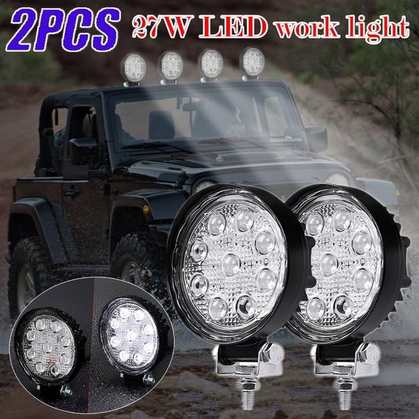 2pcs Newest 27W LED Work Light 12V