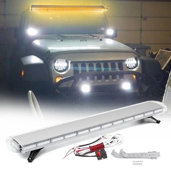 150W 12-24V 104 LED Work Light Bar Beacons Safety Emergency Warning Strobe Light Amber