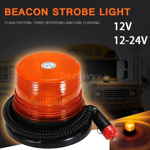 LED Strobe Light Emergency Warning Flash Beacon Light With Magnetic Base For Truck Vehicle School Bus