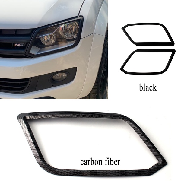 Headlight Covers ABS Car Accessories For VW Amarok 2009-2019 Black Only