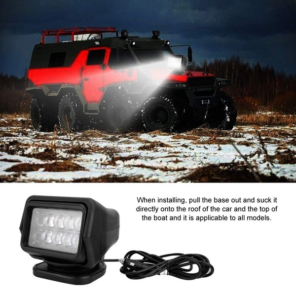 50W Car CREE LED Remote Control Led Search Light Spot Beam