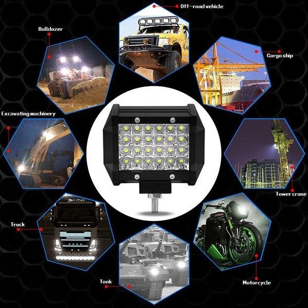 """72W Car Roof Light LED Work Light Bar 4"""""""